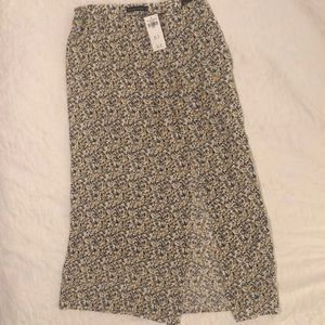 Abercrombie Midi Skirt with Side Slit Small